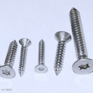 25 Blechschrauben 7982 TX Edelstahl VA Senkkopfschrauben Senkkopf  2,2 bis 6,3mm