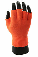 Winter Solid Women Men Fingerless Warm Gloves Knitted Stretch Half Finger Gloves