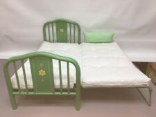Authentic American Girl KIT,  Green Trundle Bed, Mattress, Pillow, Retired