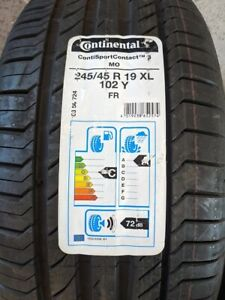 Brand New Continental ContiSportContact MO 245/45/R19 102Y