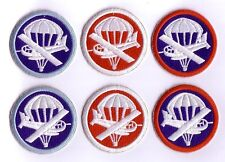 WWII - PARA / GLIDER Cap Patches (Set de 6 - Reproductions)