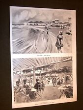 Ricordi di Porto d'Anzio nel 1898 Rovine neroniane e Musica in piazza Roma
