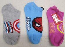 Iron Man Spiderman Capitan America Donna 'Calzini 3 Paia Marvel Taglie 9 - 11