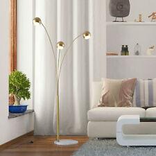198cm 3-Branch Futuristic Floor Lamp Metal Frame Multi-Light w/ Marble Base