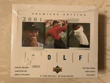 2001 Upper Deck Golf Card Factory Sealed Hobby Box Tiger Woods True Rookie