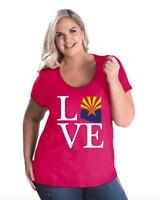 Love Arizona  Women Curvy Plus Size Scoopneck Tee