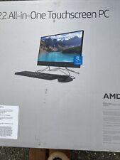 "Brand New HP All-In-One Computer Desktop 22-df0023w 21.5"" 8GB 1TB AMD Ryzen 3"
