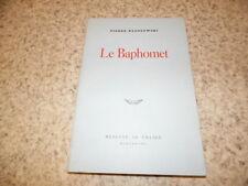 1978.Le Baphomet.Klossowski Pierre