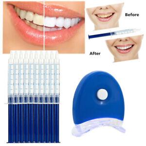 Teeth Whitening Peroxide Dental Bleach System Oral Gel Kit Tooth Whitener Laser