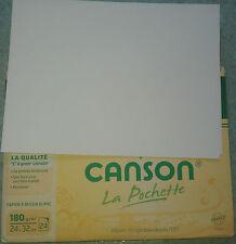 feuilles papier a dessin blanc CANSON 24 / 32 cm