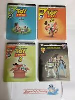 Toy Story 1 2 3 4 - Limited Edition Steelbook Lot - 4K + Bluray + Digital New US