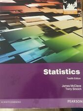 Statistics  by James T. McClave, Terry Sincich 12th ed 9780321807281