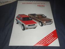 1990 GMC S15 Jimmy Color Brochure Catalog Prospekt