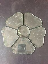 Stained Glass Supplies 6 Piece Round Flower Cluster Clear Beveled Glass