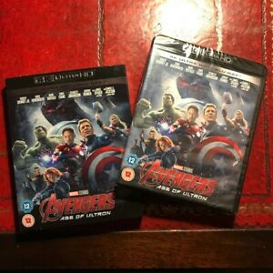 4K Ultra HD + Blu Ray (The Avengers Age of Ultron) NEW 2018 (Marvel Movie BLURAY