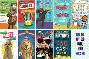 Pack of 10 Humerous Joke Funny Birthday Cards Male or Female Boy or Girl JHB001