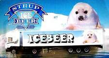HO 1:87 STRUP GERMAN ICE BEER TRUCK SCANIA SEMI TRAILER WITH BABY SEAL