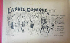 GIL BAER RARE ANNEE COMIQUE REVUE DE 1897 ALBUM CARICATURES HUMOUR 240 DESSINS