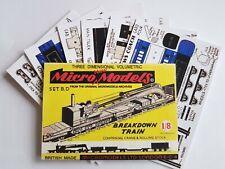 Micromodels Set BD Breakdown Train Crane Rolling Stock Micro New Models card kit