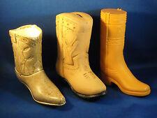 Lot Of (3) Boots - I Ceramic Vase, 1 Ceramic Bank & 1 Avon Plastic Boot Decanter