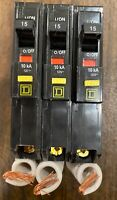 1PC SQUARE D QO115GFI QO115GFIC 15AMP GROUND-FAULT GFCI CIRCUIT BREAKER NEW