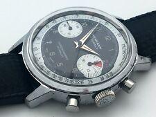 WAKMANN (Breitling) Chronograph Valjoux 7733 PANDA DIAL TACHYMETRE JUST SERVICED