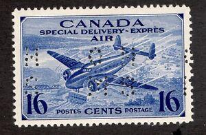 #OCE1 - Canada - 1942 - 16c - OHMS Perfin -  MLH - VF -  superfleas - cv$30