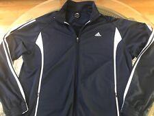 Mens adidas Track Jacket navy & white Xl 3 stripe full zip