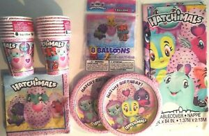HATCHIMALS - Birthday Party Supply Pack Kit w/ Balloons