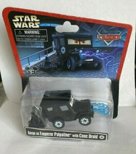 Disney Cars Star Wars SARGE AS EMPEROR PALPATINE WITH CONE DROID