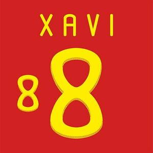 Xavi 8. Spain Home football shirt 2010 - 2011 FLEX NAMESET NAME SET PRINT