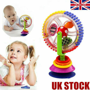 Baby Kid Infant Toys Rainbow Ferris Wheel Rattle Clanking Suction High Chair Teu
