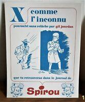 Superbe carte Buvard de spirou alphabet année 60' Gil Jourdan par Tillieux