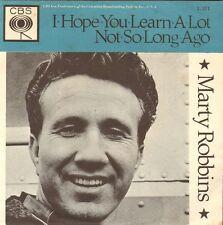 MARTY ROBBINS - I Hope You Learn A Lot / Not So Long Ago (1963 SINGLE DUTCH PS)
