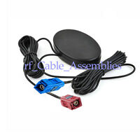 Amplified Remote GPS+GSM Combined Antenna Aerial Signal Booster Fakra Connector