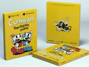 Cuphead Steelbook Futurepak Game Xbox one w/ stickers France Exclusive Rare