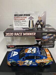 William Byron NIB  # 24 Axalta 2020 Daytona Duel Raced Win 1/24 Action Camaro