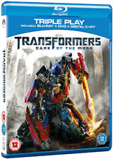 TRANSFORMERS - DARK OF THE MOON - BLU RAY / TRIPLE PLAY  NEW / SEALED