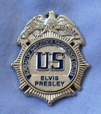 Elvis Presley US Bureau Of Narcotics Dangerous Drugs DEA badge. Gracelands, TCB