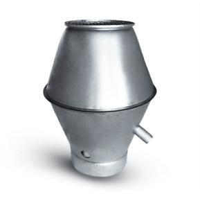 Deflektorhaube 100-300 mm Anschluß Wickelfalzrohr, Ablufthaube ,Stahl verzinkt