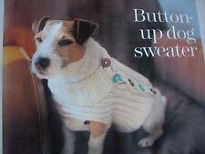 Tejer patrón Botones suéter de perro pecho 41,44,51,56,67 Cm