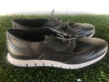 Women's Cole Haan ZeroGrand Oxfords Black Gray Leather Shoes Size 10