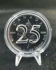 5 Count-2013 Canada 25th Anniversary Silver Maple Leaf 1 oz .9999 Coins in CAPS
