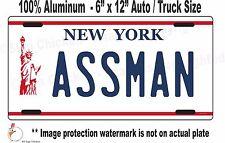 Seinfeld  Cosmo Kramer ASSMAN  replica license plate  / All Aluminum for AUTO