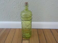 Green decorative glass bottle with cork - New