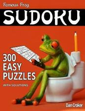 Bathroom Sudoku: Famous Frog Sudoku 300 Easy Puzzles with Solutions : A.