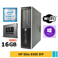 PC RICONDIZIONATO HP ELITE 8300 SFF QUAD CORE i7 SSD 250GB RAM 16GB WI-FI WIN 10