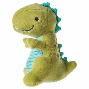 Mary Meyer Pebblesaurus Soft Toy Baby Rattle, 5-Inches, Green Dino