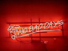 """New No Bad Days Beer Wall Decor Neon Sign 19""""x15"""""""