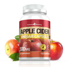 Apple Cider Vinegar 500mg 120 CAPSULES *GREAT VALUE* for Weight Loss & Fat Burn